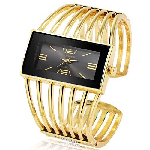 LMSHM Damen Armbanduhr Damenuhr Mit Kristallen Uhren Damen Luxus Damenuhr Rose Gold Armreif Armbanduhr,B