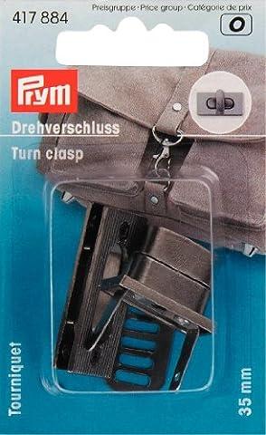 Eclair-Prym - TOURNIQUET RECTANGLE POUR SAC A MAIN - Prym - Gris