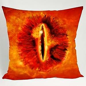 Niche Coussin décoratif coverThe œil de Sauron dans Le Seigneur des anneaux 1 taie d'oreiller (51 x 76 cm de côté)