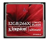 Kingston 266X 32 GB Compact Flash Card - Red/Black