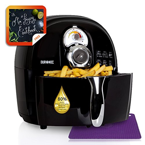 duronic-af1-b-healthy-oil-free-1500w-air-fryer-multicooker-black-free-recipe-book-2-years-warranty-i