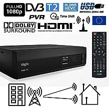 Crypto Redi 270 DVB-T2 HEVC H.265 Sintonizador Receptor y Grabador TDT Full HD 1080P con Dolby Reproductor multimedia PVR