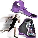 I-Sonite (Purple) Justierbarer Sweatproof/Wasser-beständiger Sport-Eignungs-Laufender Turnhallen-Armband-Telefon-Fall für Huawei P8Lite ALE-L04 [ XL ]