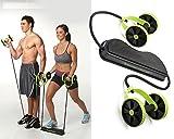 Vortex Revoflex Xtreme Exercise Equipment,Professional Ab Wheel Roller, Abdominal Workout Machine
