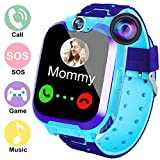 Jeu Montre Intelligente téléphone pour Les Enfants avec réveil SOS de 1,54 '' à écran Tactile Lecteur de Musique MP3 Smartwatch pour l'école de Cadeaux d'anniversaire de Vacances de Filles garçons