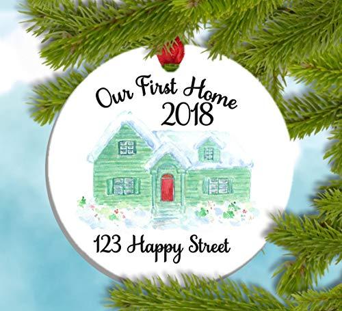 (Dozili Our First Home First Home Geschenk First Home Ornament Our Home Einweihungsgeschenk, Geschenk für Käufer)