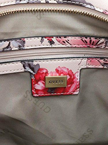 Guess HWISAF-P7104 Sac Shopper Femme Nude / Red (Beige / Rouge)