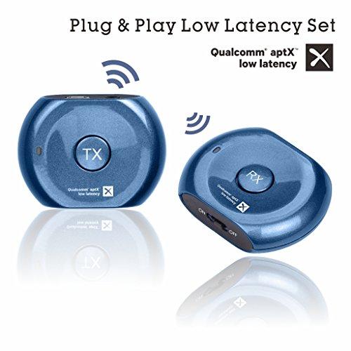 Avantree Saturn Pro aptX Baja Latencia - Transmisor y receptor Bluetooth 2 en 1, Adaptador de audio Inalámbrico de 3.5 mm para Altavoces Astéreo, Auriculares o TV