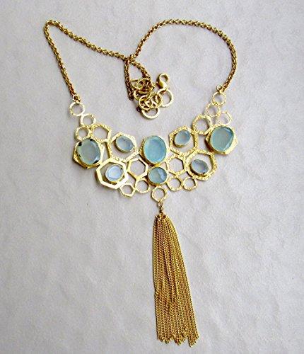 natural-aqua-chalcedony-rose-cut-necklace-honey-comb-aqua-blue-statament-necklace-from-enhara-jewels