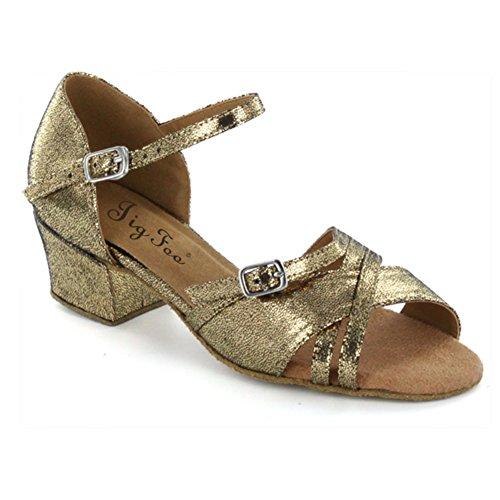 Scarpe ballo latino per bambini/ scarpe da ballo in raso per le ragazze/Morbido antiscivolo scarpe bambini da ballo E