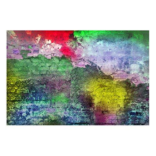Bilderwelten Magnettafel - Bunte besprühte alte Wand aus Backstein - Memoboard Quer Wandbild Magnettafel Pinnwand Magnetboard Magnetpinnwand Magnetwand Stahl Küche Büro, Größe HxB: 40cm x 60cm
