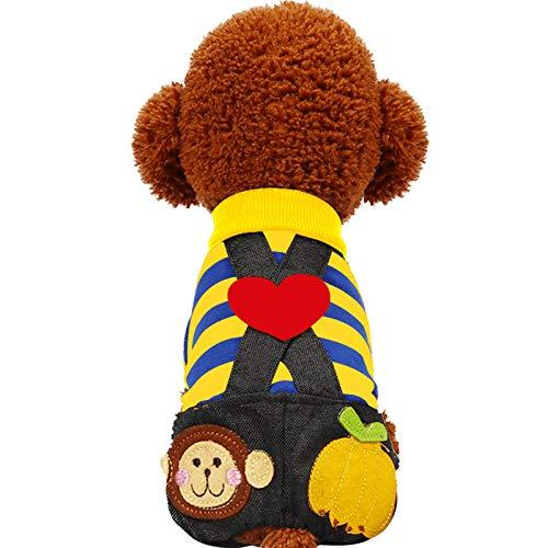 Süßes Teddybär Kostüm - BAONUAN Haustier Kleidung Hundebekleidung Frühling Und