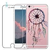 Coque iPhone 6 / 6S avec Verre Trempé, blossom01 Cute Motif Dreamcatcher Premium TPU Souple Etui de Protection [absorbant les chocs] [Ultra mince] [Anti-rayures] pour iPhone 6 / 6S