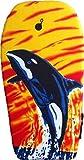 EXPLORER Bodyboard ORCA 94x47x5cm Schwimmboard Board Surf Wal mit Halteleine und Klett Surfboard Schwimmbrett Strand Wasser Sommer Wellen Wellenreiten