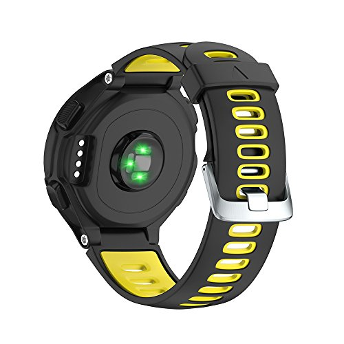 NotoCity Garmin Forerunner 735XT Armband, Kompatibel mit Armband Forerunner 235/230/220/620/630/735XT, Uhrenarmband Soft Silikon Ersatzband für Garmin 735XT, Quick-fit, Mehrfache Farben