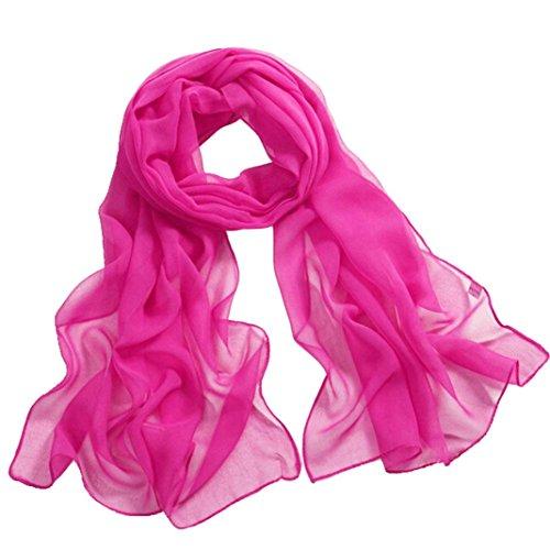 e weiche Wrap-Dame Shawl Chiffon- Schal, 160*50cm (Hot Pink) (Hot Pink Schal)