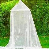 Jasnyfall Toile de lit d'été en dentelle ronde en plein air Canopy Filet Rideau...