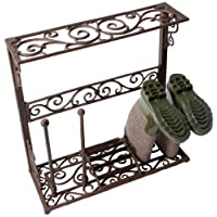 Fallen Fruits Small Cast Iron Boot Rack - Brown