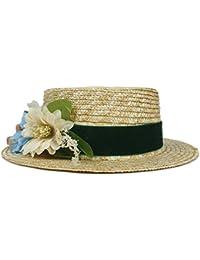 CFHJN Home Sombrero del Sol de la Paja de Las Mujeres del Verano del  Sombrero de la señora de la Manera Sombrero de la Playa del Verano de… e757a5375491
