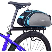 Lixada Bolsa Alforja Trasera para Bicicleta 13L Multifuncional (Azul)