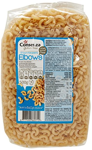 Consenza Gluten Free Wholemeal Macaroni 500 g (Pack of 4)