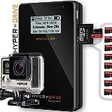 """2000 GB / 2TB SSD HyperDrive for GoPro - Mobiler Fotospeicher / Videospeicher / Datenspeicher für GoPro und andere Action-Kameras, Digitalkameras, Camcorder und externe Festplatte (6,35 cm (2,5"""") SATA HDD, USB 3.0, LCD-Display, SDXC/SDHC/SD Kartenleser, 30MB/s Backup, Bis 350 GB Backup pro Akkuladung, 3850mAh Akku). HDGP mit integriertem 2000GB / 2 TB SSD Solid State Drive (SSD). Angebot von Digitalix24."""