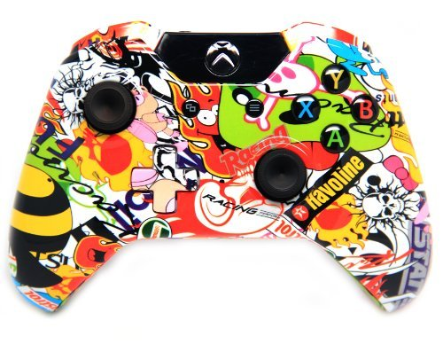 Sticker Bomb Xbox One Rapid Fire Modded Controller 40 Mods for COD Ghosts Quickscope, Jitter, Drop Shot, Auto Aim, Jump Shot, Auto Sprint, Fast Reload, Much More by Xbox One