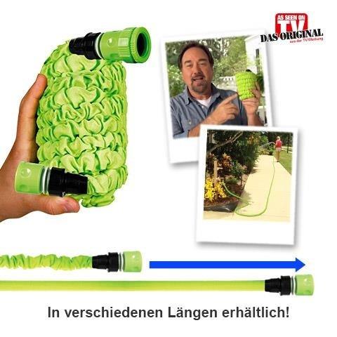 Flexi Wonder - Der Gartenschlauch der wächst – Das Original aus der TV Werbung von MediaShop (15m)