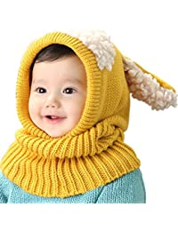 UMIPUBO Bebé Sombrero y Bufandas Invierno Tejido Gorro Punto Caliente Lana Cofia Capucha Bufanda Caps Sombreros