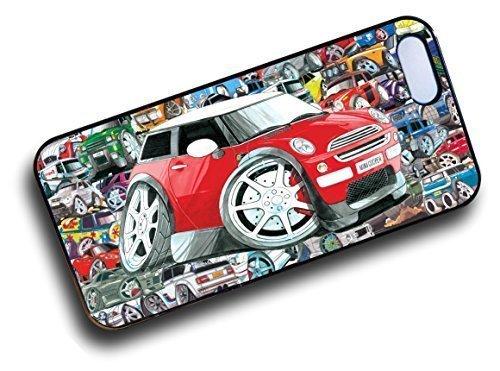 Koolart stile Stickerbomb DESIGN PER NUOVO ROSSO BMW MINI COOPER S Custodia Resistente Compatibile Apple iPhone 4 4S