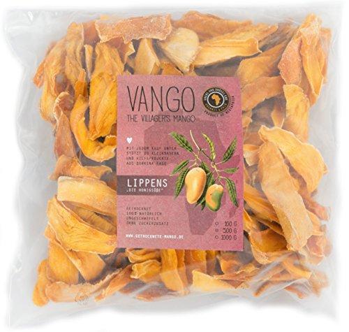 100% Mango getrocknet, Lippens *honigsüß*: OHNE Zucker**OHNE Schwefel >FAIR TRADE< 100% Natur & unbehandelt *säurearm*lecker* v. Kleinbauern aus Afrika, Burkina Faso (500 GR)