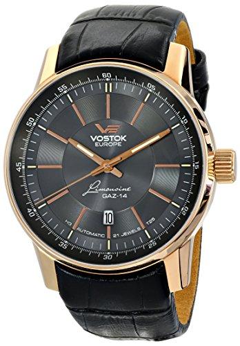Vostok Europe NH25A/5659139 - Reloj de pulsera hombre, piel, color negro