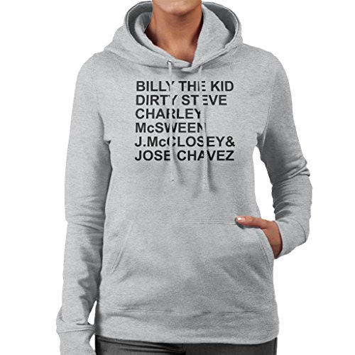 Young Guns Characters Text Women's Hooded Sweatshirt Heather Grey
