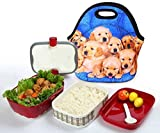 Ten Cute Puppies : ( Ten Cute Puppies ) 3.5MM Thick Neoprene Lunch Bag / Lunch Tote, Insulated | Stretchy | Reusable | Washable | Rugged Zipper | Great For Lunchboxes & Snacks By SummerBoom