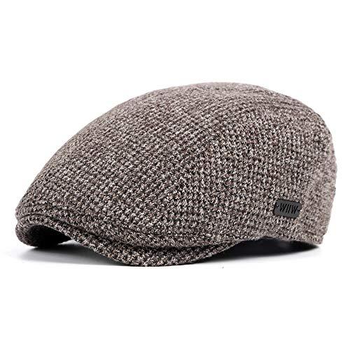 Herren Flache Mütze Winter Einstellbare Flache Mütze Ivy Duckbill Warm Newsboy Gatsby Gestrickte Britische Art Irish Cap Hut (Color : 3, Size : Free Size)