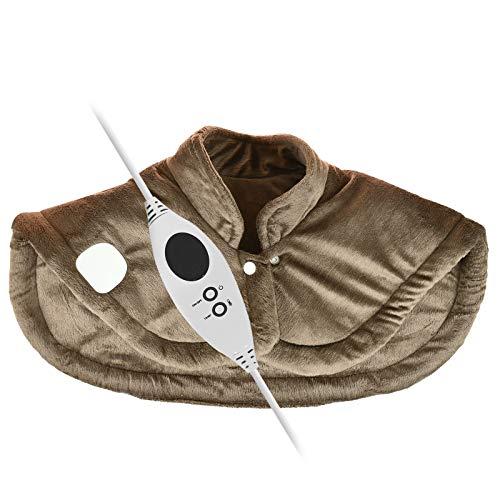 Luxuriöser elektrisch beheizter Schal Cape super weich bequem Nacken Schulter Rückenwärmer Sofortige Wärme mit 6 Einstellungen