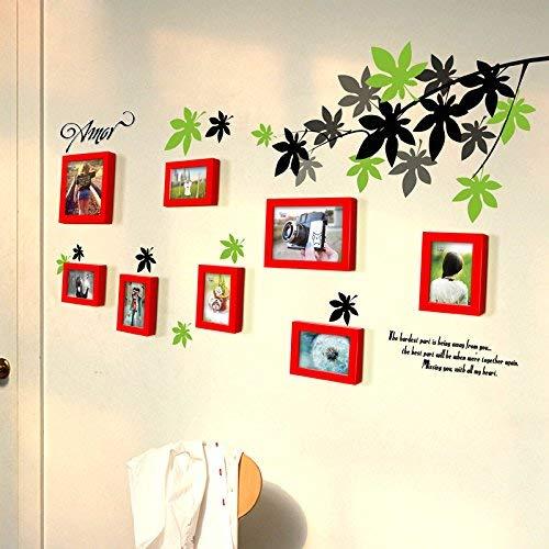 Die Maple Leaf Gardens (BFMAOYI 8 Frame Maple Leaf Garden WindbettWohnzimmer Display Wanddekoration DIY Massivholzrahmen Wand Kreative Foto Wandaufkleber Sofa Hintergrund wanddekoration (Farbe: # 3))