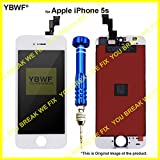 YBWF for Apple iPhone 5s (White) LCD Display + Touch Screen Digitizer Assembly