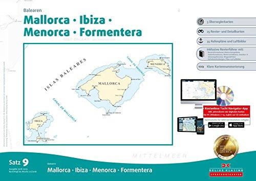 Sportbootkarten Satz 9: Balearen (Ausgabe 2018/2019): Mallorca - Ibiza - Menorca - Formentera