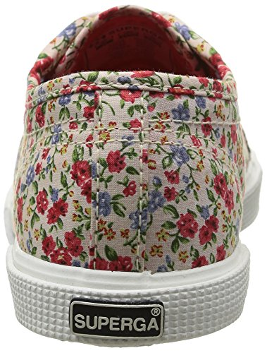 Superga 2950 Cotj Fabric 9, Baskets mode fille Multicolore (977 White Red)