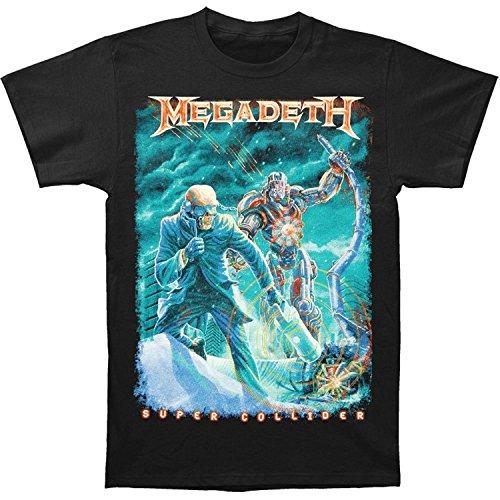 Megadeth Men's Vic Canister T-shirt Black(Large)
