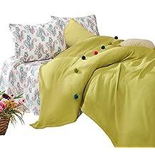 Cotton Box Fancy Ponponlu Tek Kişilik Pike Takımı, Yeşil