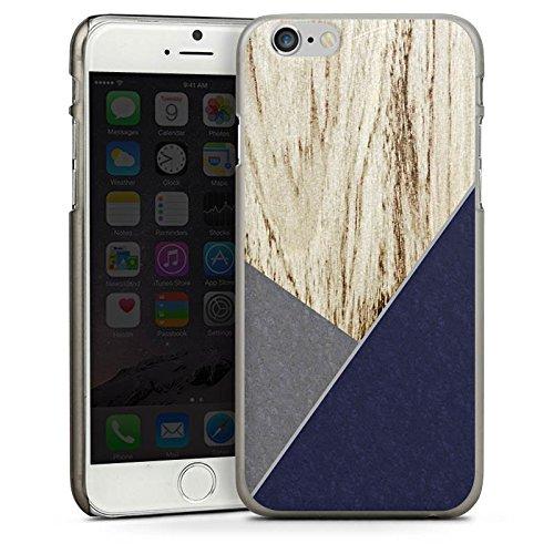 Apple iPhone 4 Housse Étui Silicone Coque Protection Bois Moderne Tendance CasDur anthracite clair