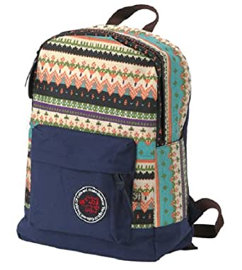 Unisex Vintage Casual Daypack Fashion Pack Canvas Leather Travel Hiking Backpacks Campus School College Bookbag Rucksack Gym Shoulder Bag Portable Carry Case Bag for Sony Canon Nikon Olympus DSLR Ipad Google Nexus SamSung Galaxy Note 10.1 N8000 Microsoft Surface 10 inch Tablet PC for teenage girls/boys(D-Dark Blue)