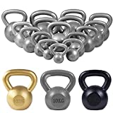Gorilla Sports Cast Iron Kettlebell 8KG