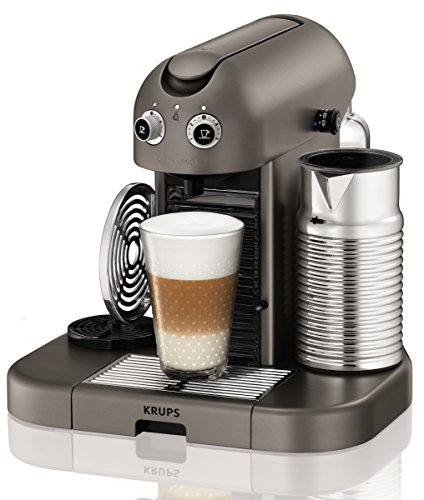 Nespresso Gran Maestria Titanium XN8105 Krups - Cafetera monodosis (19...