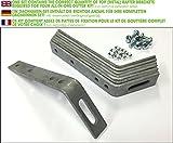 Dachhaken Set (Metall) für PVC & Zink Dachrinnen (3,0 mm (für Zink) > Pultdach)
