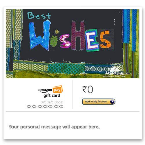 Akanksha Foundation (Best Wishes) - E-mail Amazon Pay Gift Card