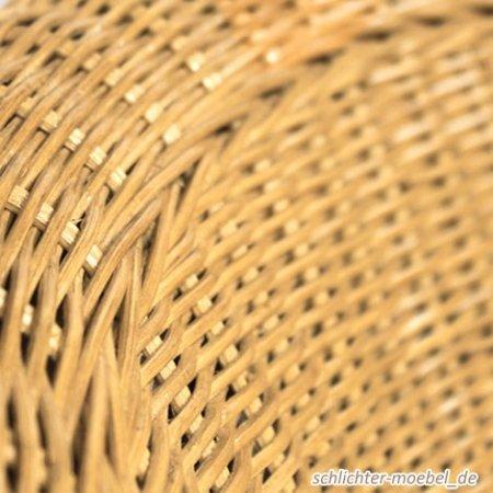 Rattansessel Bari natur Inklusive Sitzkissen – Korbsessel - 6