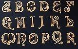 Edible Cake Lace, Fortesque Cakes Essbare Alphabet-Spitze Dekoration, Sugarcraft, Cupcakes, Kuchen, mit 4 cm x 3 cm gold